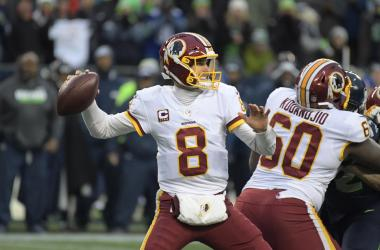 Nov 5, 2017; Seattle, WA, USA; Washington Redskins quarterback Kirk Cousins (8) throws a pass against the Seattle Seahawks during an NFL football game at CenturyLink Field. The Redskins defeated the Seahawks 17-14