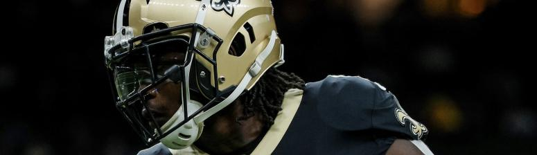 Dec 3, 2017; New Orleans, LA, USA; New Orleans Saints running back Alvin Kamara (41) before the game against the Carolina Panthers at the Mercedes-Benz Superdome