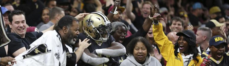 Saints extend win streak to 8, roar back, 34-31 in OT