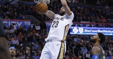 Davis' 43 points lead Pelicans past Thunder 114-100