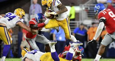 LSU's Guice to forego senior season, enter NFL draft