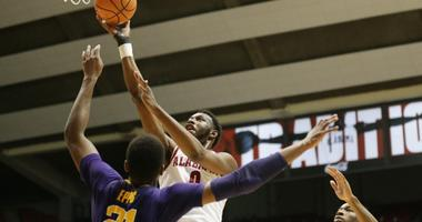 Alabama runs LSU out of the gym in an 80-65 Tiger loss to Tuscaloosa