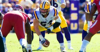 LSU loses starting center to NFL draft