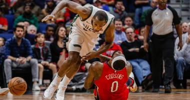 Cousins, Davis lead Pelicans past Bucks, 115-108