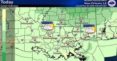 Spring arrives with much cooler and breezy weather