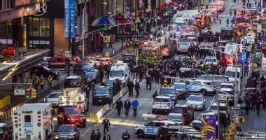 The Latest: Subway bomb ignited by Christmas light, matches