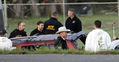 The Latest: Police describe how suspect set off bomb in car