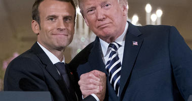 Trump, Macron make a show as best buds but tussle over Iran