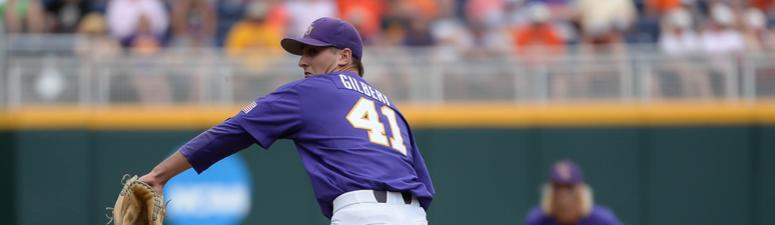 LSU pitcher Caleb Gilbert out of the weekend rotation
