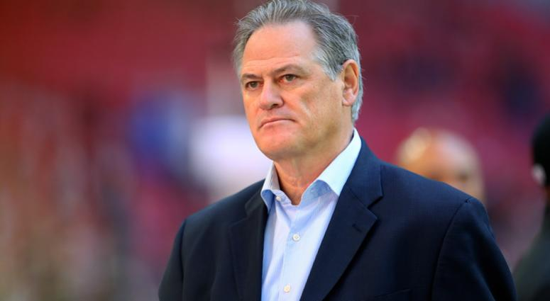 Dec 18, 2016; Glendale, AZ, USA; New Orleans Saints general manager Mickey Loomis against the Arizona Cardinals at University of Phoenix Stadium. The Saints defeated the Cardinals 48-41.