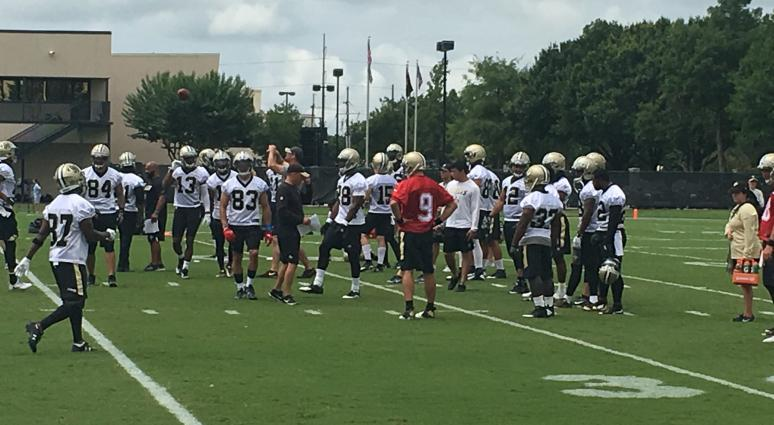 Drew Brees Saints mini camp
