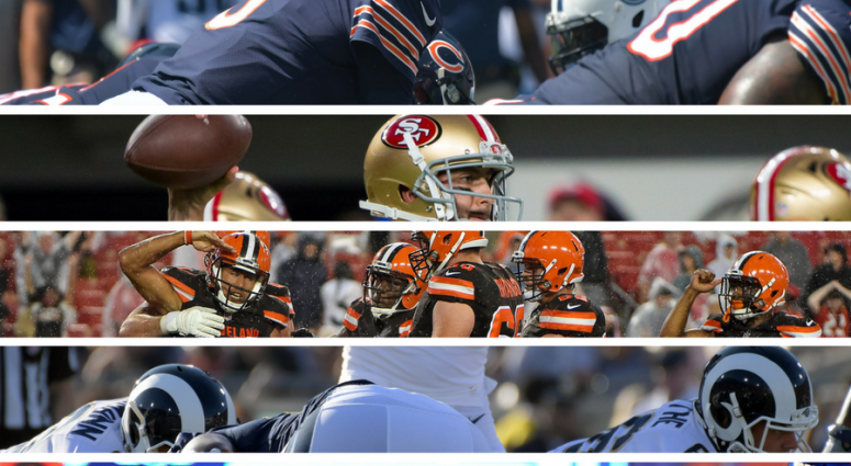 Chicago Bears, San Francisco 49ers, Cleveland Browns, Los Angeles Rams, New York Jets