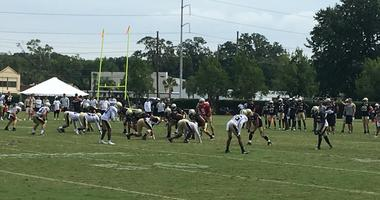 New Orleans Saints training camp practice