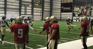 Saints indoor practice training camp