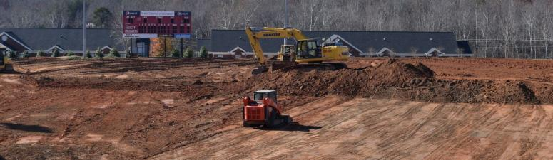 Construction at Ashmore Field