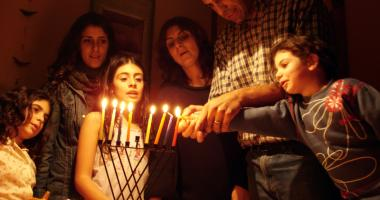 Hanukkah family celebration