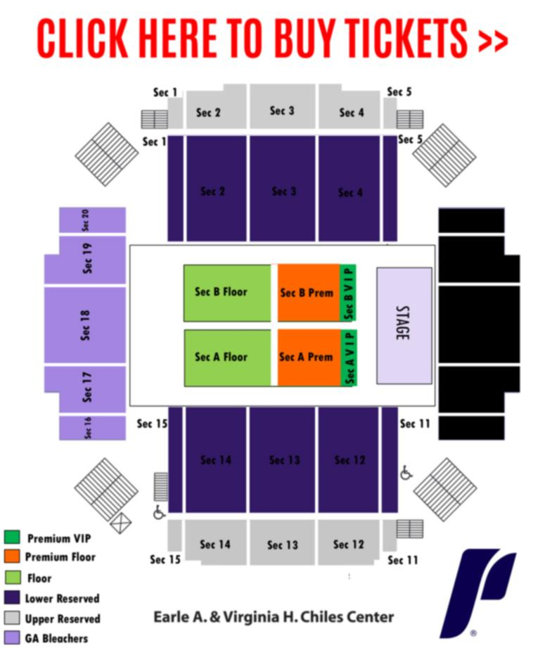Chiles Center seating chart