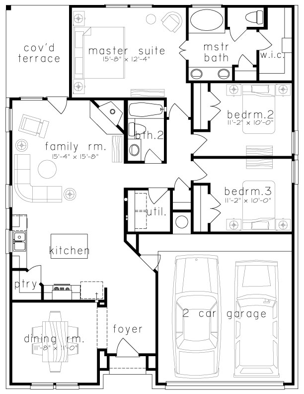 Plan 1547 on El Floor Plan Design
