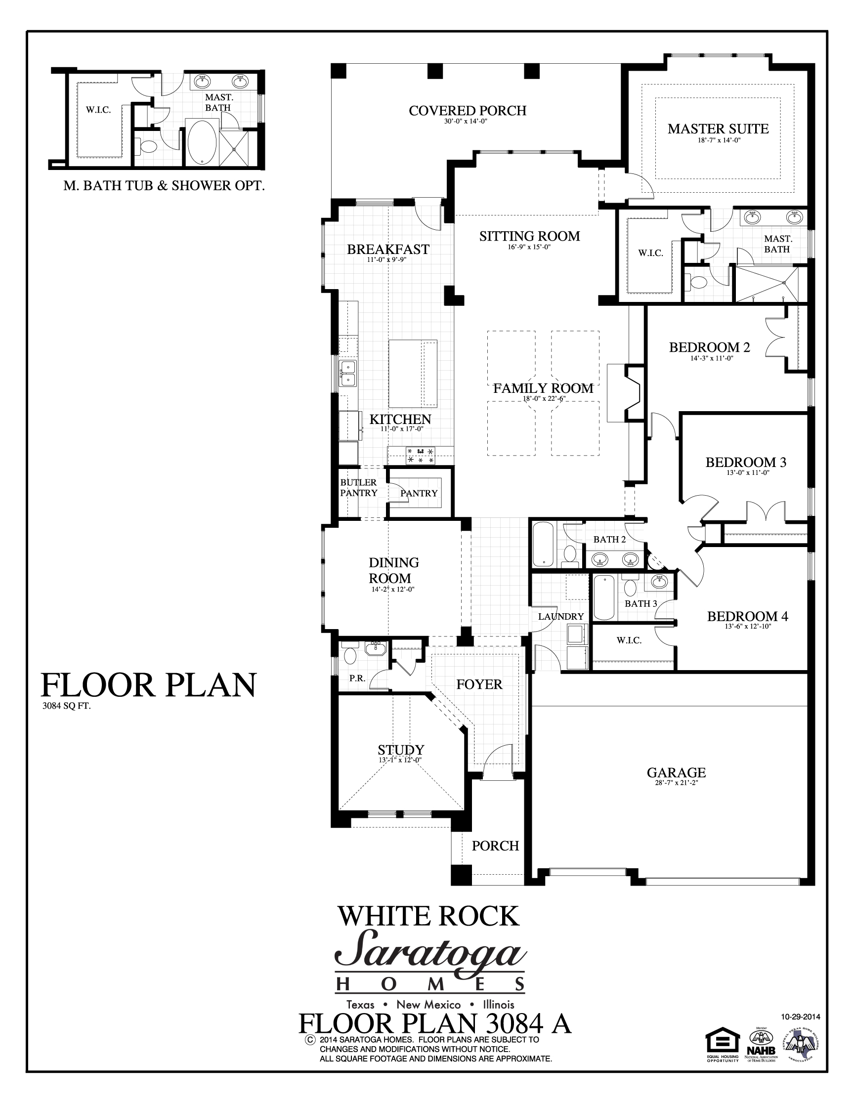 Plan 3084 a saratoga homes killeen for Saratoga homes floor plans