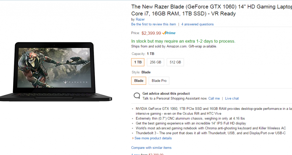 razer blade amazon