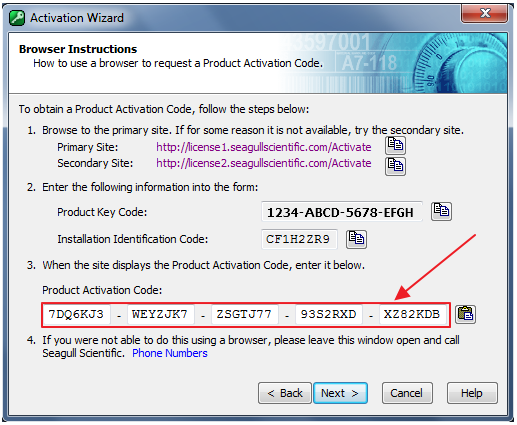 Enter that validation code the text box displayed in step