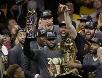 克利夫兰骑士队荣获NBA总冠军