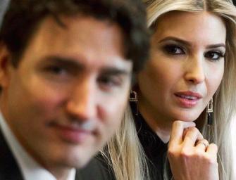 川普女儿见加拿大总理瞬间成小粉丝!脸部疑似整容不自然!