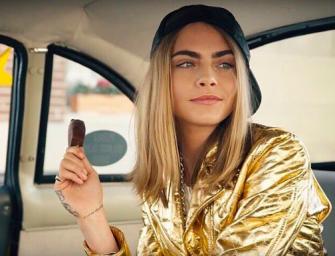 時尚品牌又告聯名!Moschino聯名冰品品牌!Cara代言超俏皮!