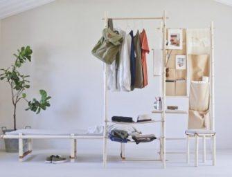 這位設計師的簡約遊牧風格家具,可以隨身攜帶,超級方便!