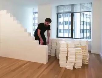 樂高做成的辦公室!連牆壁都是樂高!真的超強!