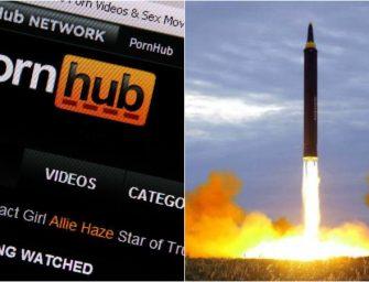 從色情網站 Pornhub 的觀片流量看導彈烏龍事件對夏威夷人的影響