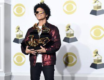 2018 第 60 屆格萊美音樂頒獎典禮在紐約麥迪遜花園廣場舉行,火星哥成最大贏家