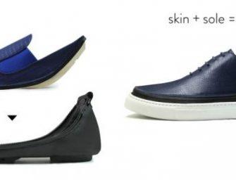 鞋底和鞋面用拉鏈拼接,以後旅行帶鞋子方便多了!
