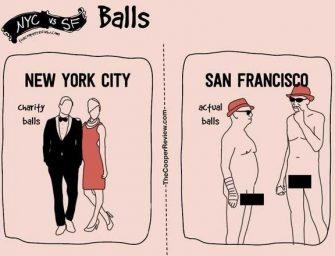 舊金山和紐約真實生活有什麼不同呢?讓這組漫畫來告訴你把