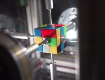 麻省理工大學研發機器人,竟然半秒不到就完成了魔方?!