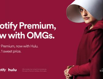 Spotify 和 Hulu 聯手推出捆綁套餐,每月只要 $13 哦!