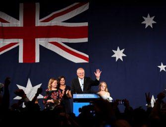 澳大利亚保守派总理莫里森意外大选获胜成功连任