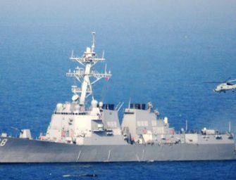 美国军舰周日驶入南中国海中国控制岛屿12海里之内