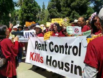 加州租控法案再推进 数百华人房东州府抗议