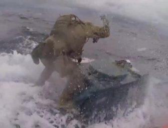 惊险勇猛!海岸警卫队公开水上缉毒现场