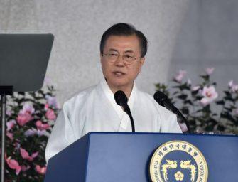 文在寅呼吁2045实现韩朝统一