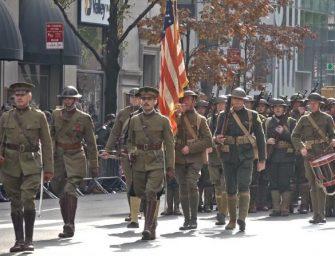 穿越了!一战美军惊现纽约曼哈顿街头