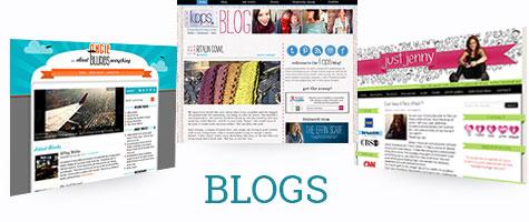 Custom blog design examples by Simply Amusing Designs