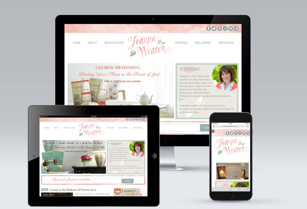 Joanna Weaver Website Redesign