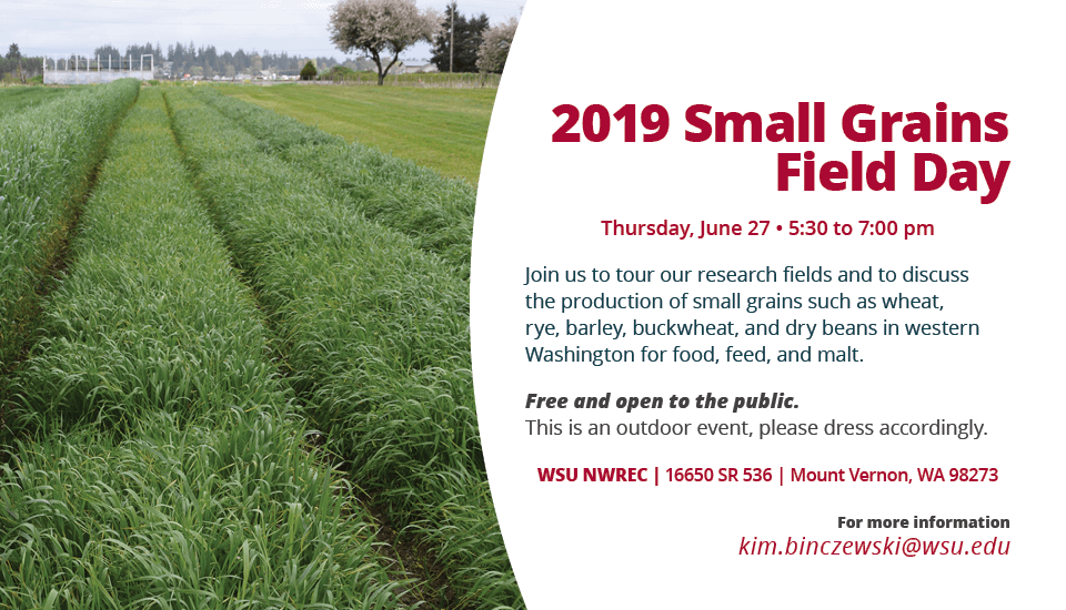 2019 Field Day. June 27, 5:30 to 7:00 pm. Mount Vernon, WA.