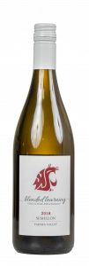 Bottle of WSU 2018 Semillon