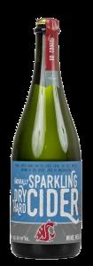 Bottle of WSU Dry Sparkling Hard Cider
