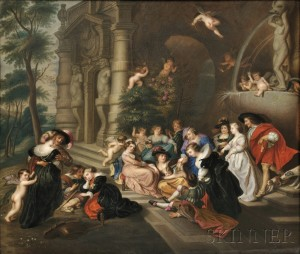 KPM Porcelain Plaque Depicting 'The Garden of Love' (Lot 583, Estimate $2,000-$4,000)