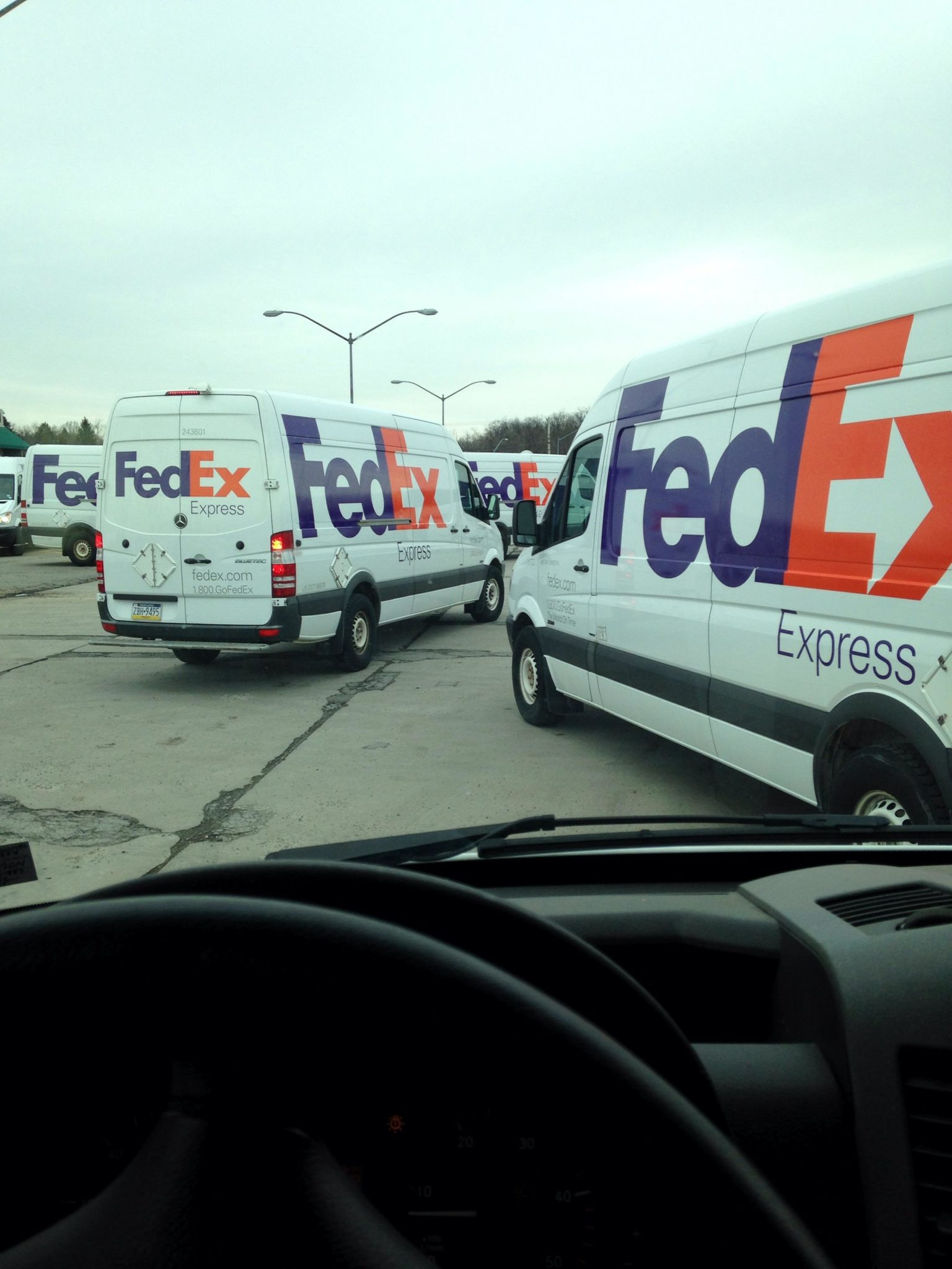 I Thought Seeing A Line Of Fedex Trucks Was Odd. But Then When I Found Out Why... Unbelievable