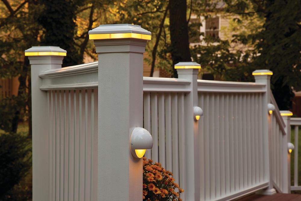 deck lighting system for residential pro